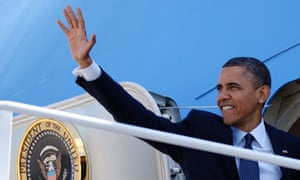 Barack Obama on Air Force One