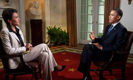 Barack Obama speaks with Robin Roberts