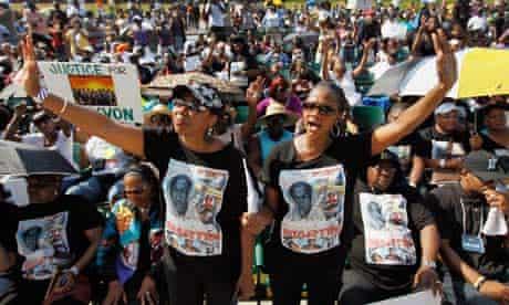 Rally in memory of Trayvon Martin, Miami 1/4/12