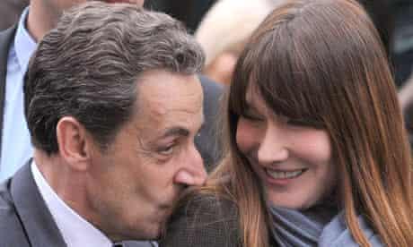 Nicolas Sarkozy with his wife, Carla Bruni