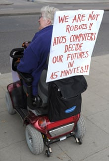 Disabled woman protests at DLA cuts
