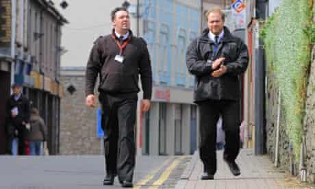 Blaenau Gwent Civil Enforcement officers on patrol in Abertillery, south Wales