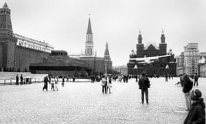 Mathias Rust flying over Red Square in 1987