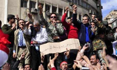 Protests in Tahrir Square, Cairo 4/11