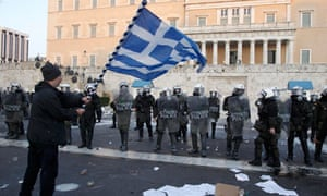 Protest in Athens, February 2012