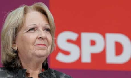 Hannelore Kraft, state premier of North-Rhine Westphalia
