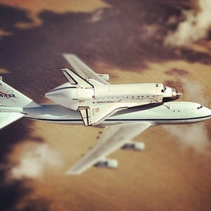 A month in space: NASA's 747 Shuttle Carrier Aircraft with space shuttle Discovery