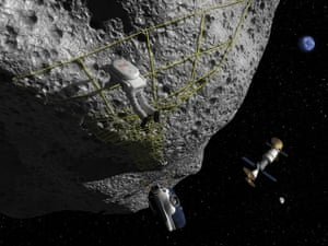 A month in space: Astronaut Performs Tethering Maneuvers at Asteroid