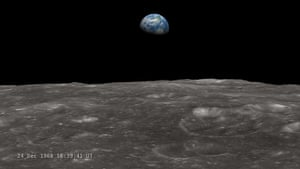 A month in space: LRO Recreates Astronaut View of 'Earthrise'