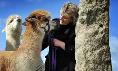 Alpaca breeder Dianne Summers, who has had a breakout of bovine TB at her smallholding