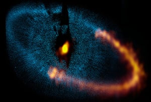 A month in space: dust ring around the bright star Fomalhaut