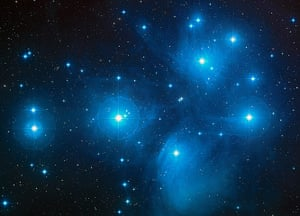 A month in space: the Pleiades (M45), a famous star cluster