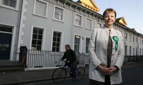 Green Party leader Caroline Lucas in Brighton