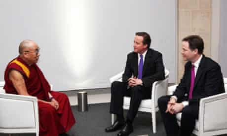 Dalai Lama meets David Cameron