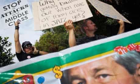 JP Morgan shareholders meeting protest