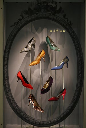ballgowns at the V&A: A collection of Rayne Shoes
