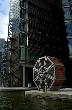 Heatherwick: The Rolling Bridge, Paddington, London