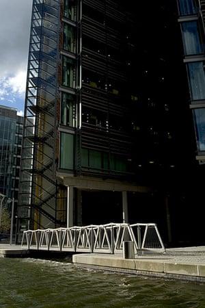 Heatherwick: The Rolling Bridge- rolled down in Paddington, London