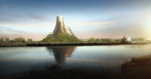 Heatherwick: A visualization of the new Teesside Power Station, UK 2011