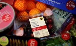 Cut-price food offers in a supermarket