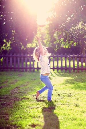 Your Pictures: Your Pictures: Girl playing playing, making the most of the Spring sunshine