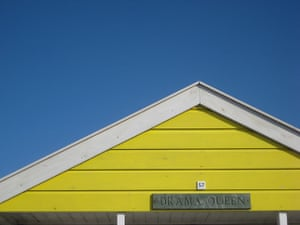 Your Pictures: Your Pictures: yellow beach hut against blue sky