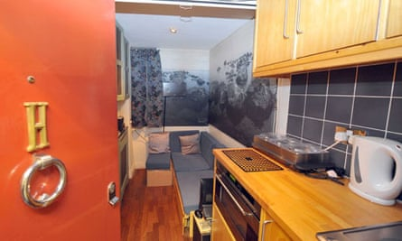 At 11ft x 5.5ft, this flat in Knightsbridge, London is smaller than a snooker table.