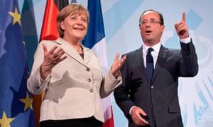 Chancellor Angela Merkel and Franois Hollande