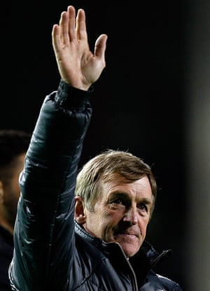 Kenny Dalglish: Liverpool's manager Dalglish waves to the crowd