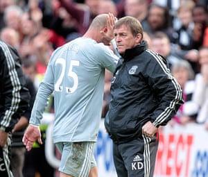 Kenny Dalglish: Liverpool's manager Kenny Dalglish (R) l