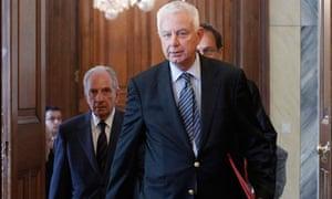 The new Greek caretaker prime minister Panagiotis Pikramenos