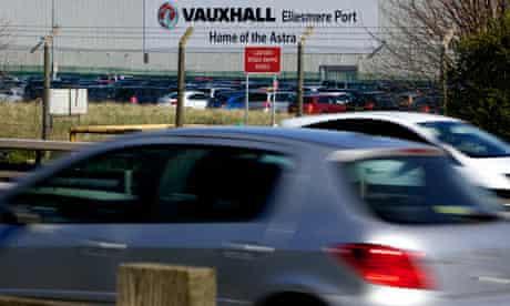 General Motors' Vauxhall car factory at Ellesmere Port