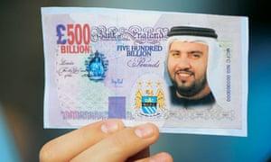 Man City fan fake £500 billion banknote