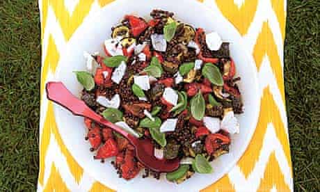 Picnics: roast pepper and lentil salad