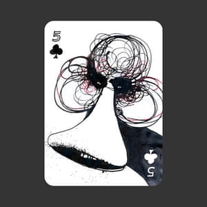 playing cards: 5 of Clubs by Susanne Eisermann