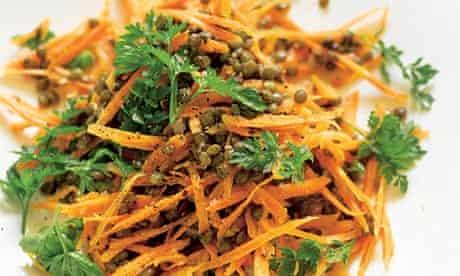 Carrot and puy lentil salad