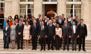 François Hollande with his new cabinet