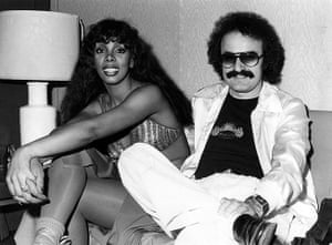 Donna Summer: Donna Summer with producer Giorgio Moroder in 1976
