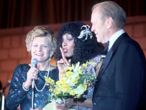 Donna Summer: Summer chats on stage with the President of the United States Gerald Ford