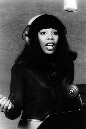 Donna Summer: Summer recording in a studio in 1970