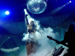 Donna Summer: Summer performs under a disco ball in 2005