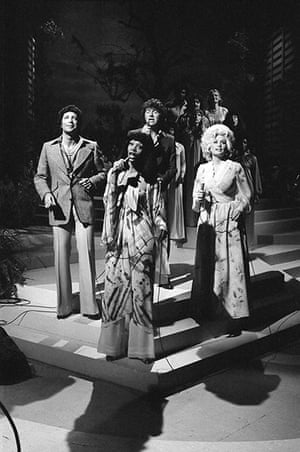 Donna Summer: Summer is seen here performing with Tom Jones, Mac Davis, and Dolly Parton