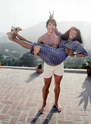 Donna Summer: Summer gets a lift Arnold Schwarzenegger in 1977