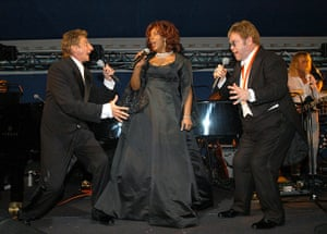 Donna Summer: Barry Manilow with Donna Summer and Sir Elton John