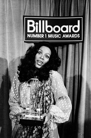 Donna Summer: Summer after having received the Billboard Number 1 Music Award in 1977