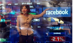 A television reporter talks about the Facebook IPO