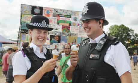 Police at Glastonbury