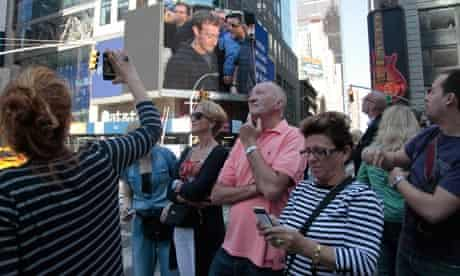 Facebook in Times Square