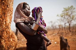 Nuba Mountains Conflict: A woman and her child from the Nuba Mountains