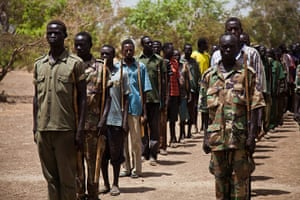 Nuba Mountains Conflict: SPLA-N soldiers train in the Nuba Mountians